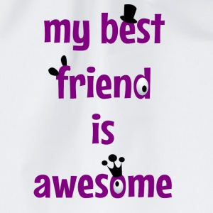 My best friend is awesome Nounours - Sac de sport léger