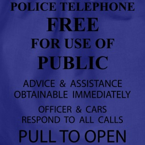 police box text T-Shirts - Drawstring Bag