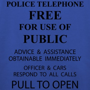 police box text T-Shirts - Kids' Premium Hoodie
