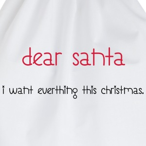 Dear Santa T-Shirts - Drawstring Bag