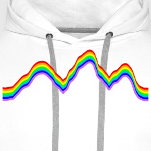 Mountain - Rainbow Colors T-Shirts - Men's Premium Hoodie