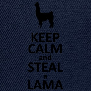Keep calm and steal a Lama Tee shirts - Casquette snapback