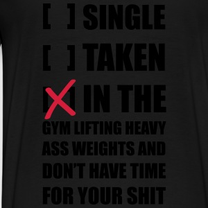 Single ... Training Gym Jacken & Westen - Männer Premium T-Shirt