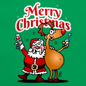 Merry Christmas - Santa Claus and his reindeer T-Shirts - Retro Bag