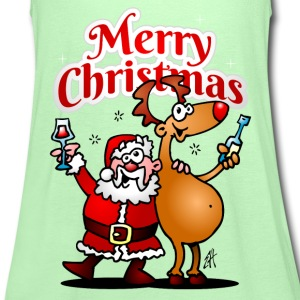 Merry Christmas - Santa Claus and his reindeer T-Shirts - Women's Tank Top by Bella