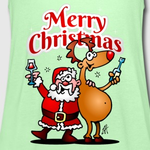 Merry Christmas - Santa Claus and his reindeer Shirts - Women's Tank Top by Bella