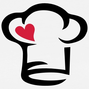Chef's hat heart, cook, kitchen, chef, restaurant  Aprons - Men's Premium T-Shirt