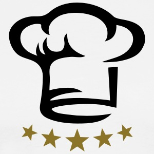 Five star chef hat, gold, hotel, cook, kitchen, 5,  Aprons - Men's Premium T-Shirt