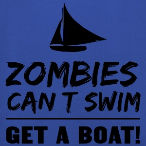 Zombies can't swim. Get a boat T-Shirts - Kids' Premium Hoodie