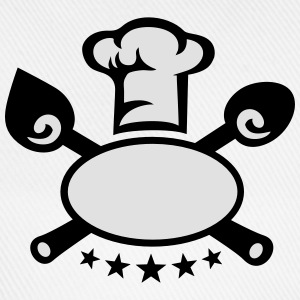 Chef's hat 5 star, cooking, kitchen, cutlery, five T-skjorter - Baseballcap