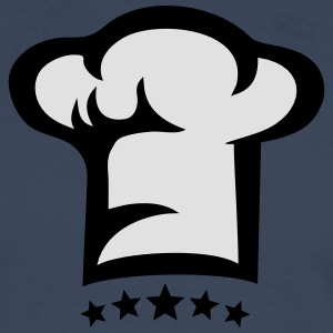 Chef hat, kitchen, 5 stars, birthday, best, fun Forklæder - Herre premium T-shirt med lange ærmer
