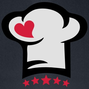Chef hat heart, 5 stars, cook, kitchen, restaurant Forklær - Flexfit baseballcap