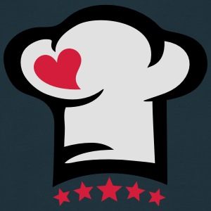 Chef hat heart, 5 stars, cook, kitchen, restaurant  Aprons - Men's T-Shirt