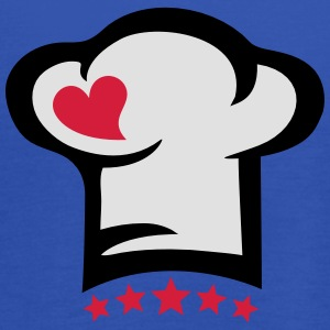 Chef hat heart, 5 stars, cook, kitchen, restaurant Kookschorten - Vrouwen tank top van Bella