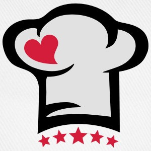 Chef hat heart, 5 stars, cook, kitchen, restaurant T-skjorter - Baseballcap