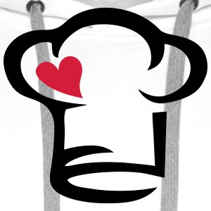 Chef's hat heart, cook, kitchen, chef, restaurant T-Shirts - Men's Premium Hoodie