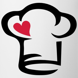 Chef's hat heart, cook, kitchen, chef, restaurant T-Shirts - Mug