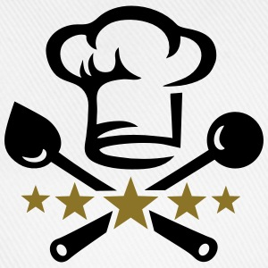 Chef's hat, five stars, cook, kitchen, restaurant Gensere - Baseballcap