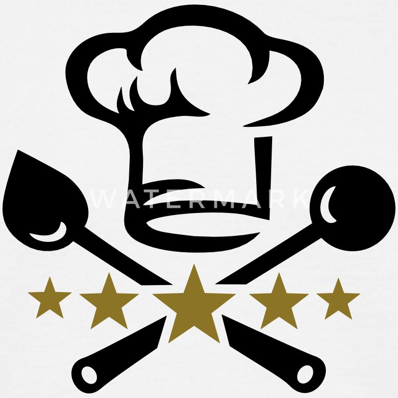 Chef's hat, five stars, cook, kitchen, restaurant T-Shirts - Men's T-Shirt