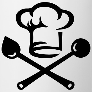 Chef hat cutlery, cooking, Cook, Restaurant, Hotel T-Shirts - Mug