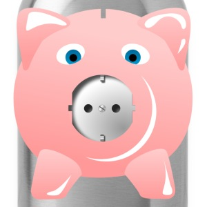 Outlet pig pink  T-Shirts - Water Bottle