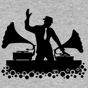 DJ Old School, Gramophone, swing, music, dance Hoo - Men's Slim Fit T-Shirt