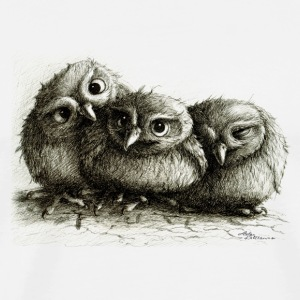 three young owls - Maglietta Premium da uomo
