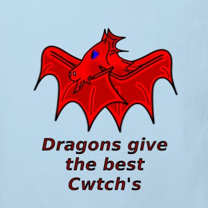 wales dragons give the best welsh cwtch's - Kids' Organic T-shirt