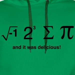 I ate pi and it was delicious T-Shirts - Men's Premium Hoodie