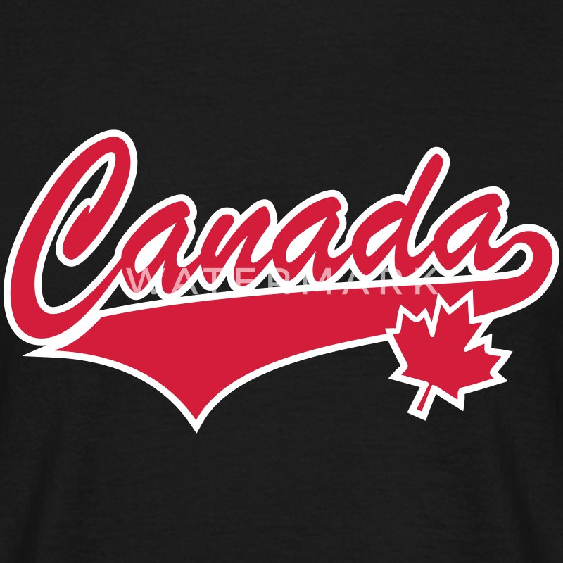 Canada Maple Leaf 2 Color Tail-Design T-Shirt - T-shirt Homme