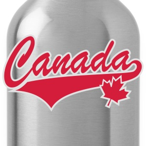 Canada Maple Leaf 2 Color Tail-Design T-Shirt - Trinkflasche