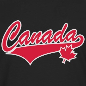Canada Maple Leaf 2 Color Tail-Design T-Shirt - T-shirt manches longues Premium Homme