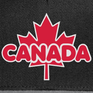 CANADA Maple Leaf 2 Colors Flag Design T-Shirt - Snapback Cap