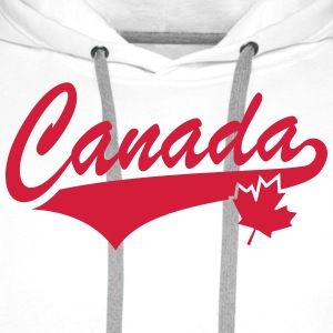 Canada Maple Leaf Tail-Design T-Shirt RW - Bluza męska Premium z kapturem