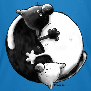 Black and White - Yin Yang -Cat - Ekologisk T-shirt herr