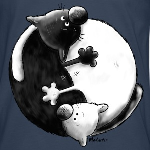 Black and White - Yin Yang -Chats - T-shirt manches longues Premium Homme