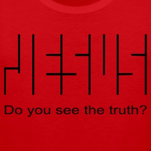 Do you see the truth? (JESUS-shirts) - Männer Premium Tank Top