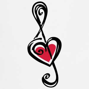 Heart clef, classic, treble, note, music, violin T-shirts - Förkläde