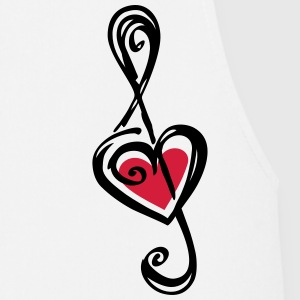 Heart clef, classic, treble, note, music, violin T-shirts - Forklæde