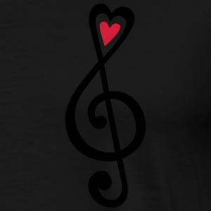 Music, heart notes, classic, treble clef, violin Bluzy - Koszulka męska Premium