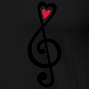 Music, heart notes, classic, treble clef, violin Gensere - Premium T-skjorte for menn