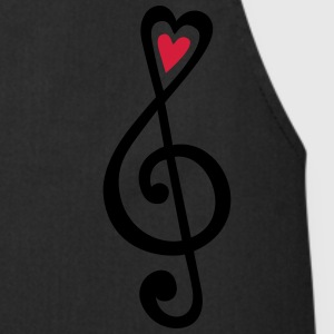 Music, heart notes, classic, treble clef, violin Sweatshirts - Forklæde