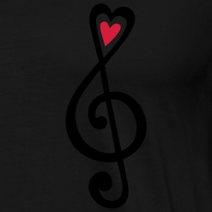 Music, heart notes, classic, treble clef, violin H - Men's Premium T-Shirt