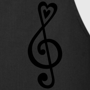 Music, heart notes, classic, treble clef, violin Tröjor - Förkläde