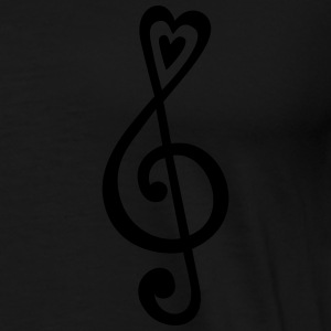 Music, heart notes, classic, treble clef, violin Tröjor - Premium-T-shirt herr