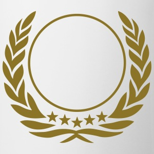 Laurel wreath, 5 stars, Award, Best, hero, winner  T-Shirts - Mug