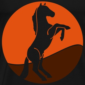 Wildtiere: der Mustang Tee shirts manches longues - T-shirt Premium Homme