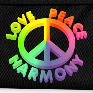 love peace 3 D 1 - Kinder Rucksack