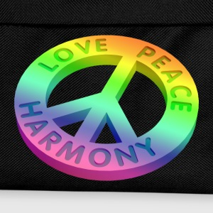 love peace 3 D 2 - Kinder Rucksack