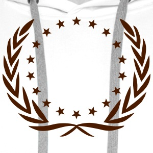 Laurel wreath, star, Award, Best, hero, winner,  T-shirts - Mannen Premium hoodie